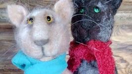 Коты в шарфах