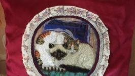 Подушка, гобелен котята