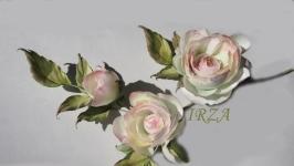 Розы из натурального шелка интерьерные.