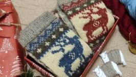 Шерстяні   шкарпетки з орнаментом