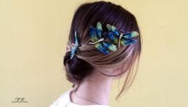 Авторские украшения для волос ′ Стрекоза ′