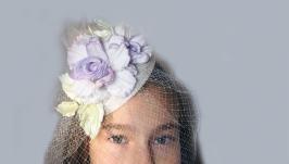 Свадебная шляпка- вуалетка.