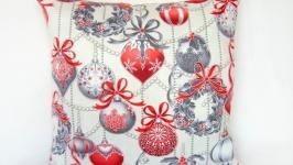 Подушка Новогодняя Шары