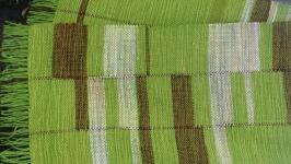 тут изображено Тканый шарф Геометрия-ассиметрия