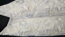 Наволочка с вышивкой ришелье Белая натуральная сатиновая вышитая наволочка