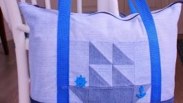 Пляжная сумка Пион 6