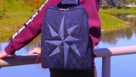 Джинсовый рюкзак Клематис 11