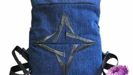 Джинсовый рюкзак Астра