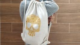 Еко-рюкзак Череп з квітів від Richelieu Studio LO