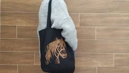 Екосумка з вишитим конем від Richelieu Studio LO