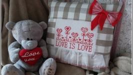 Подушка - LOVE IS LOVE