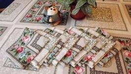 Праздничная скатерть на стол ′Вальс цветов′ 100% хлопок рогожка купить