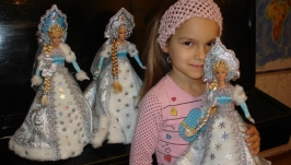 под заказ  Кукла шкатулка ручной работы  СНЕГУРОЧКА