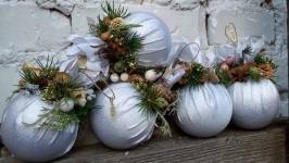 Ігрушка новорічна в в білі гамі
