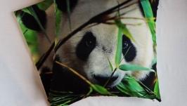 Наволочки на диванные подушки ′Панда′ чехлы медведь