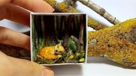 Миниатюра лиса ′АйРи′ мини фигурка лисенок тотем декор подарок