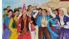 Казахская свадьба. Шашу. Живопись. Картина на подарок