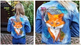 Ручная роспись Вашей джинсовой куртки с любым рисунком
