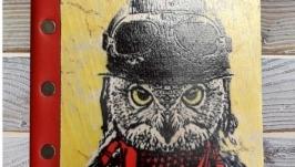 тут изображено Ежедневник ′Филин в шлеме′
