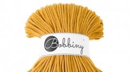 Трикотажный хлопковый шнур для вязания и макраме Bobbiny 3мм Горчица