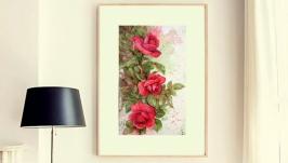 Картина акварель ′Розар′ авторская живопись