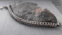 Браслет стальной кольчужного плетения