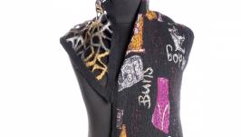 Чёрный шарф из шерсти мериноса