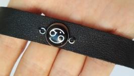 Кожаный браслет ′Cancer′ (Рак)