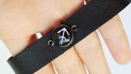 Кожаный браслет ′Sagittarius′ (Стрелец)