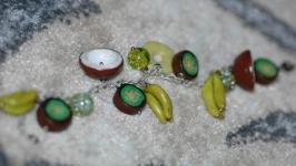Браслет фруктовый из полимерной глины