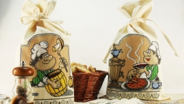 Мешочки для хранения круп и продуктов Вышитые мешочки из ткани для кухни
