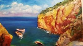Картина ′Море′, полотно, олія, мастехін, розмір 50х70 см