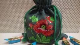 Льняные мешочки для подарков