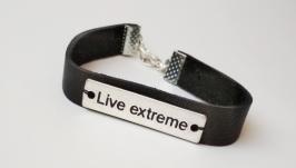 Кожаный браслет ′Live Extreme′