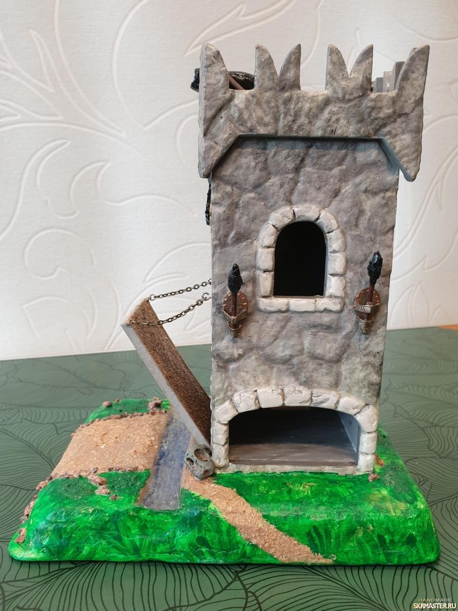 тут изображено Чайный домик - крепость
