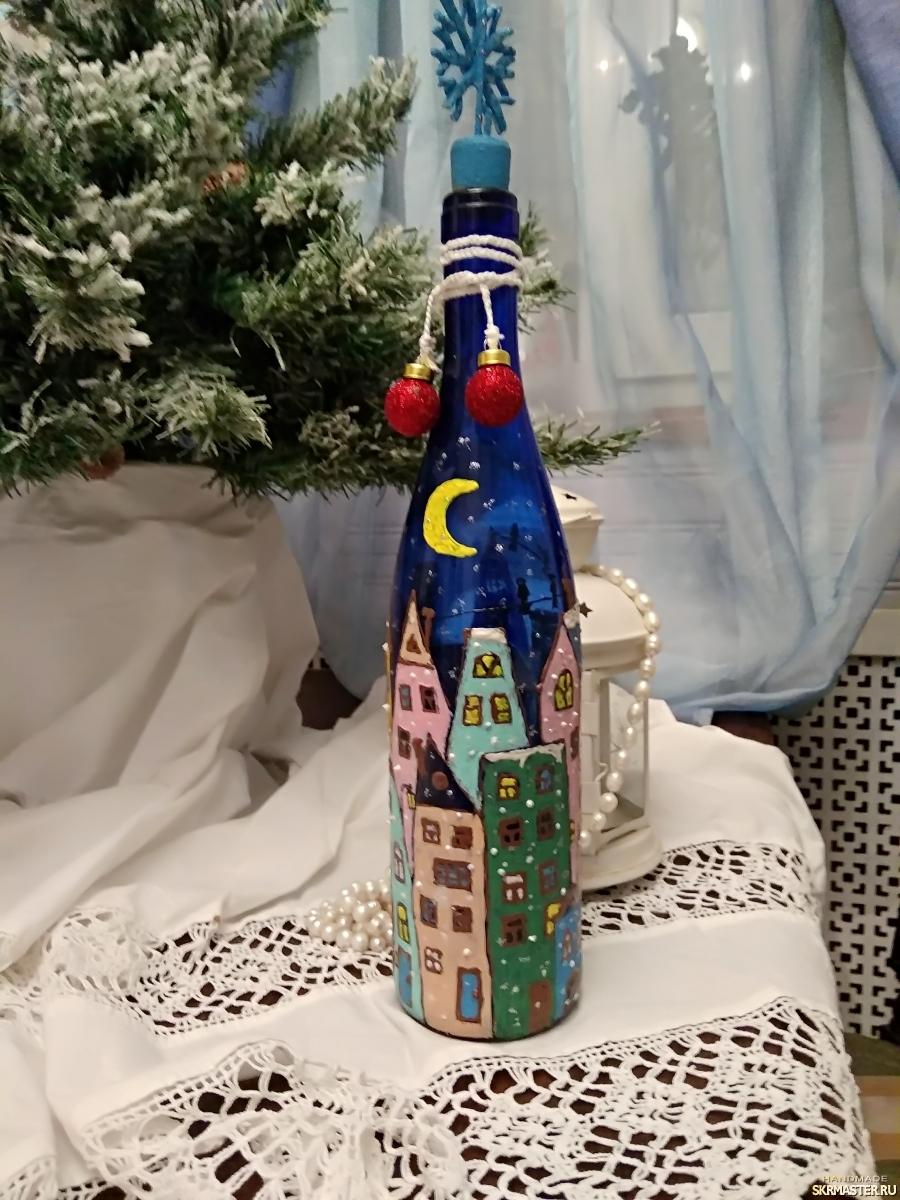 тут изображено Новогодняя бутылка. ′Новогодняя ночь′