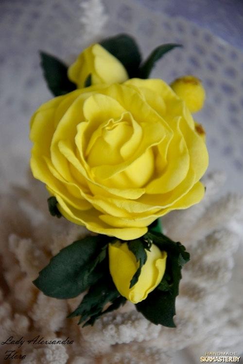 Заколка роза