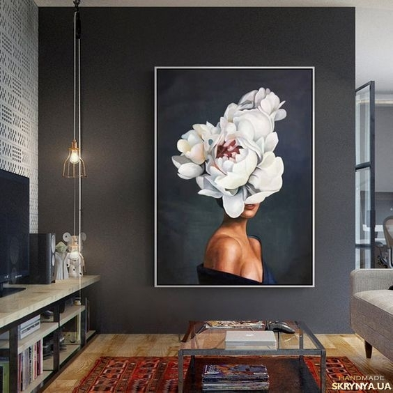 pictured here Oil painting Blooming spring
