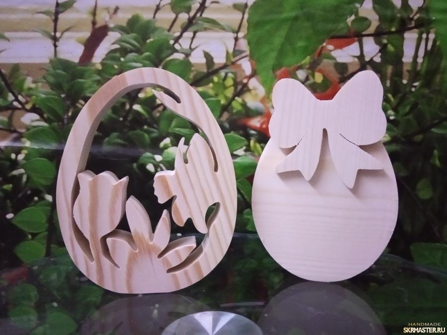 тут изображено Деревянные заготовки : Декоративные яйца на Пасху