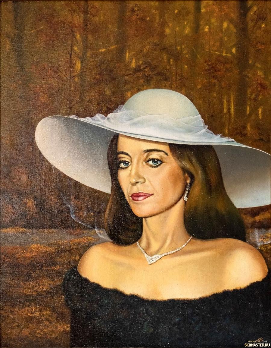 тут изображено Портрет Ирины в осеннем лесу