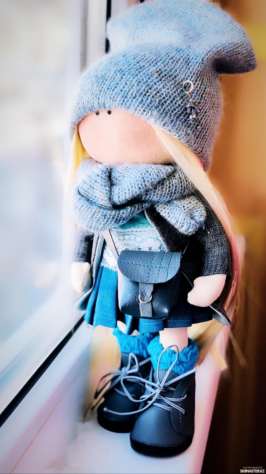 тут изображено Интерьерная кукла - Тильда