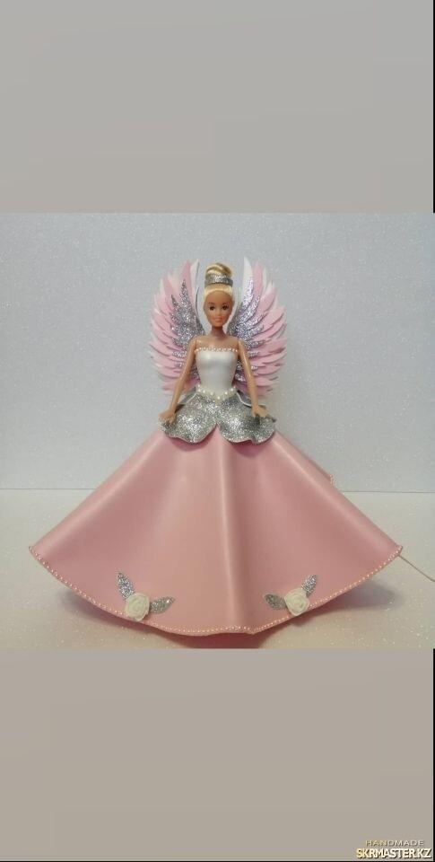тут изображено Кукла ангел - светильник