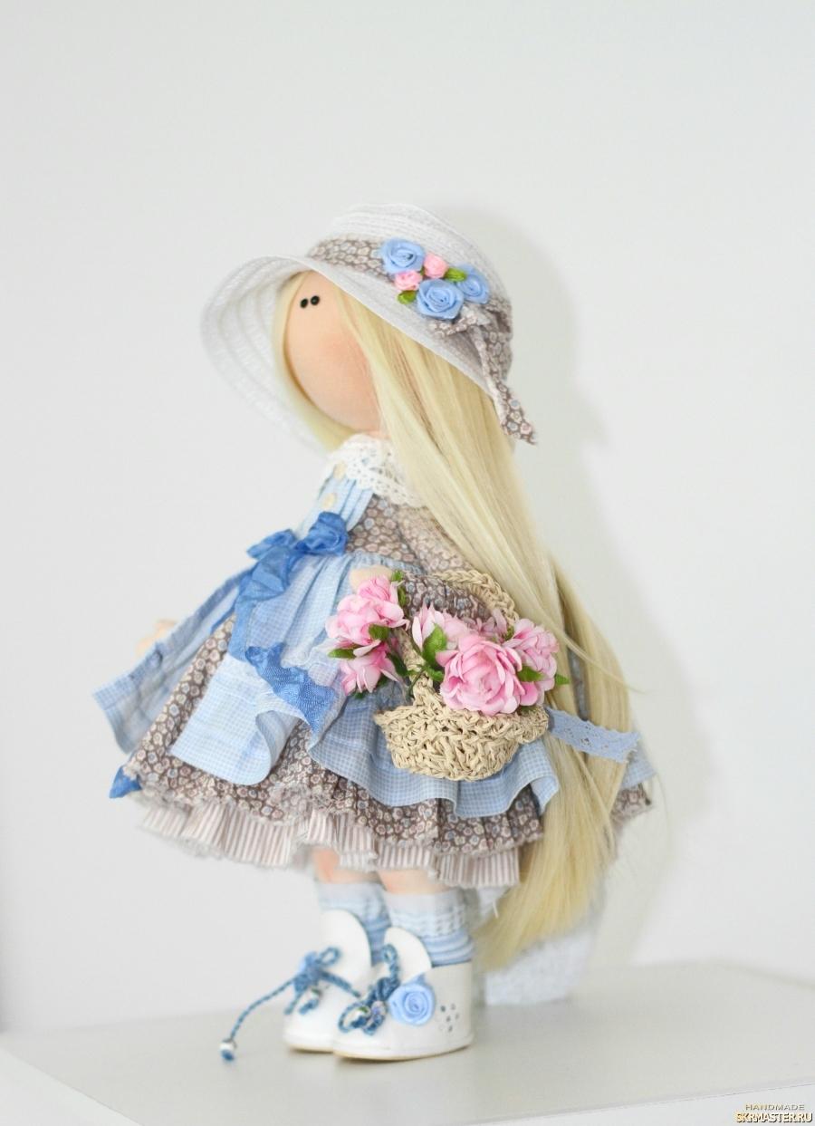 Интерьерная текстильная кукла Катрин