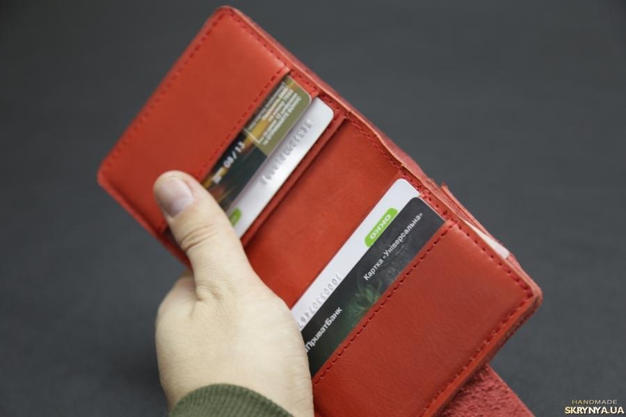 Стильний гаманець з натуральної шкіри.
