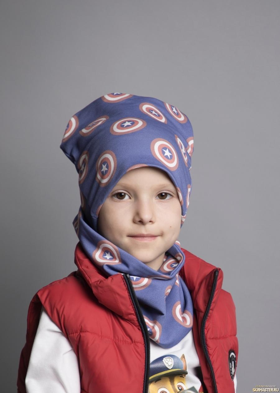 тут изображено Детский комплект шапка и снуд для мальчиков и девочек