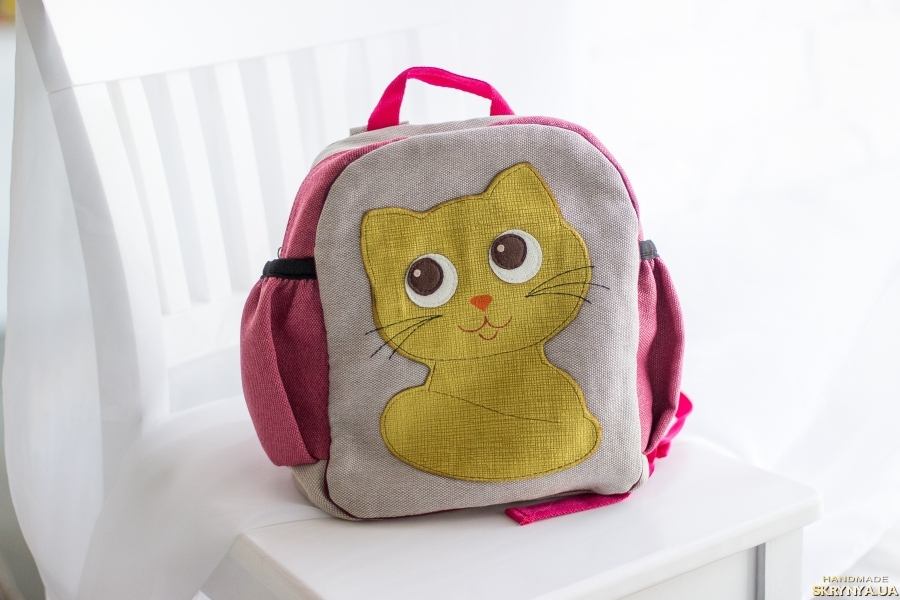 pictured here Backpack for children Cat