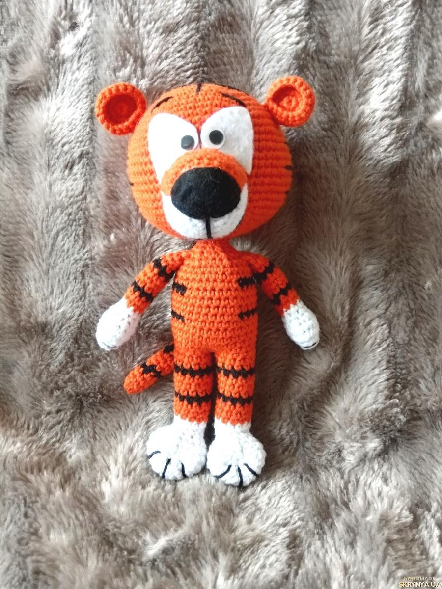 Тигр вязаный