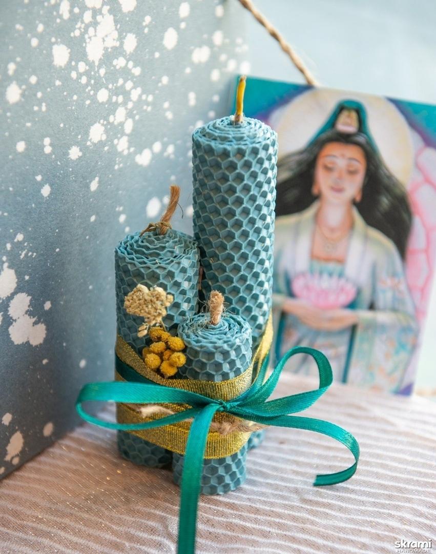 тут изображено Эко свечи из вощины ′Глубинная мудрость′