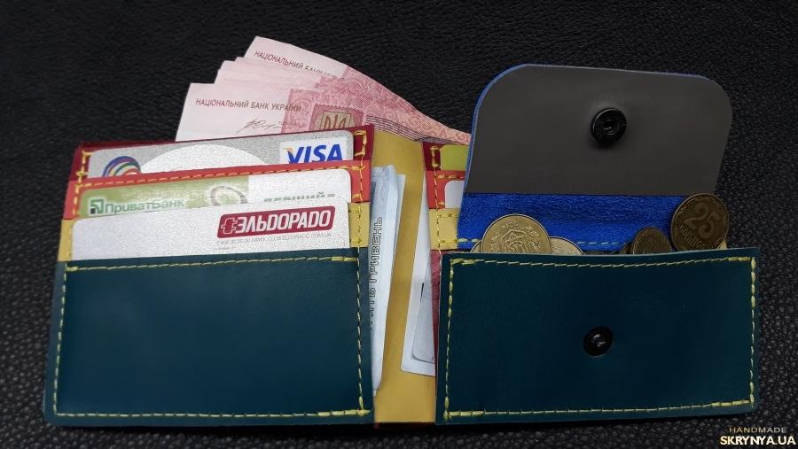 pictured here Шкіряний жіночий гаманець