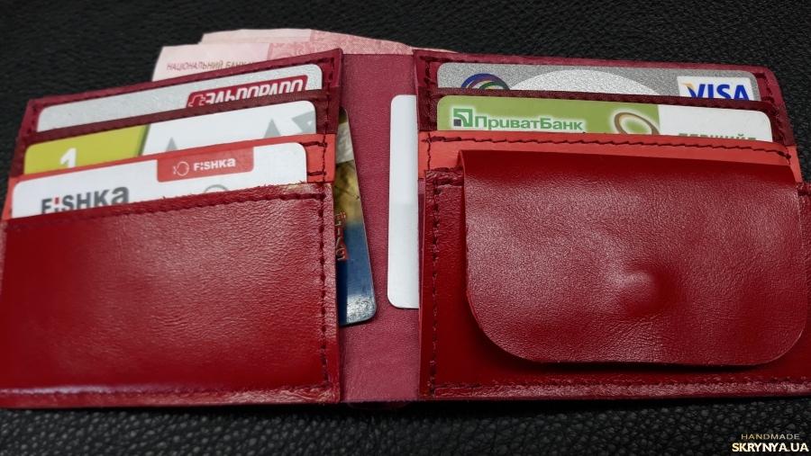 pictured here  Жіночий гаманець з натуральної шкіри